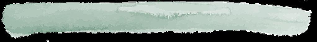 Decorative green watercolour brush stroke page divider