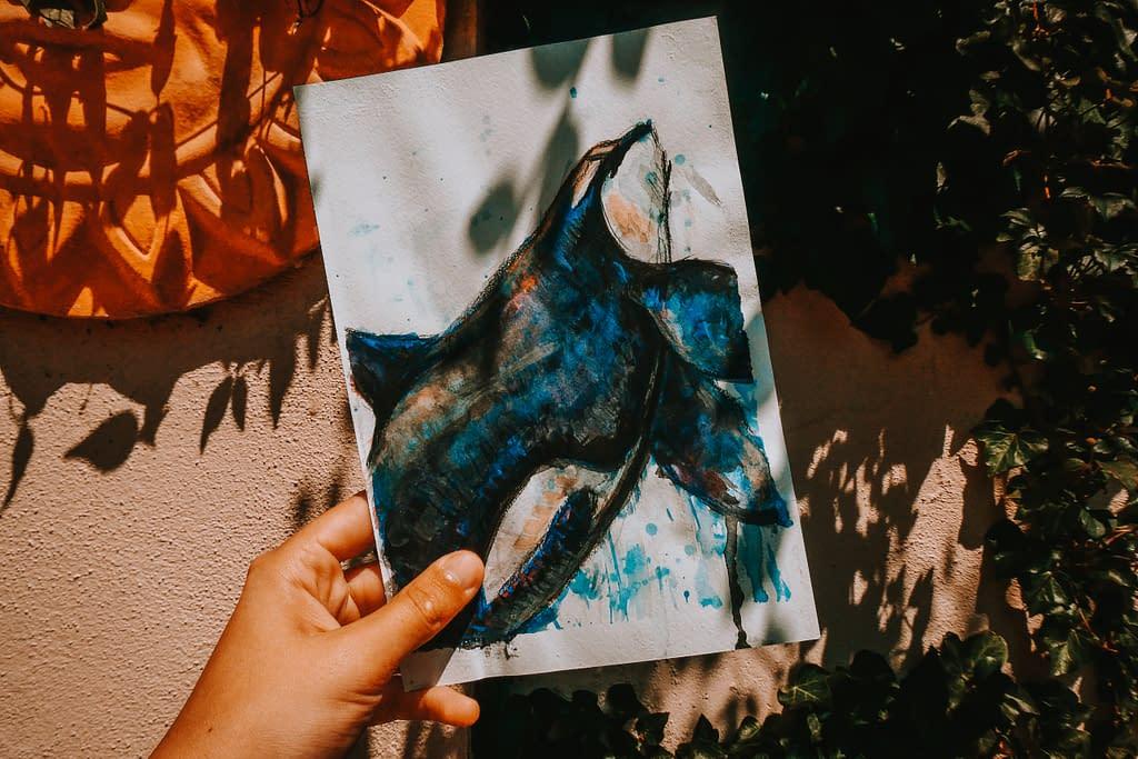 Orca Print | Original Print | Pigments by Liv