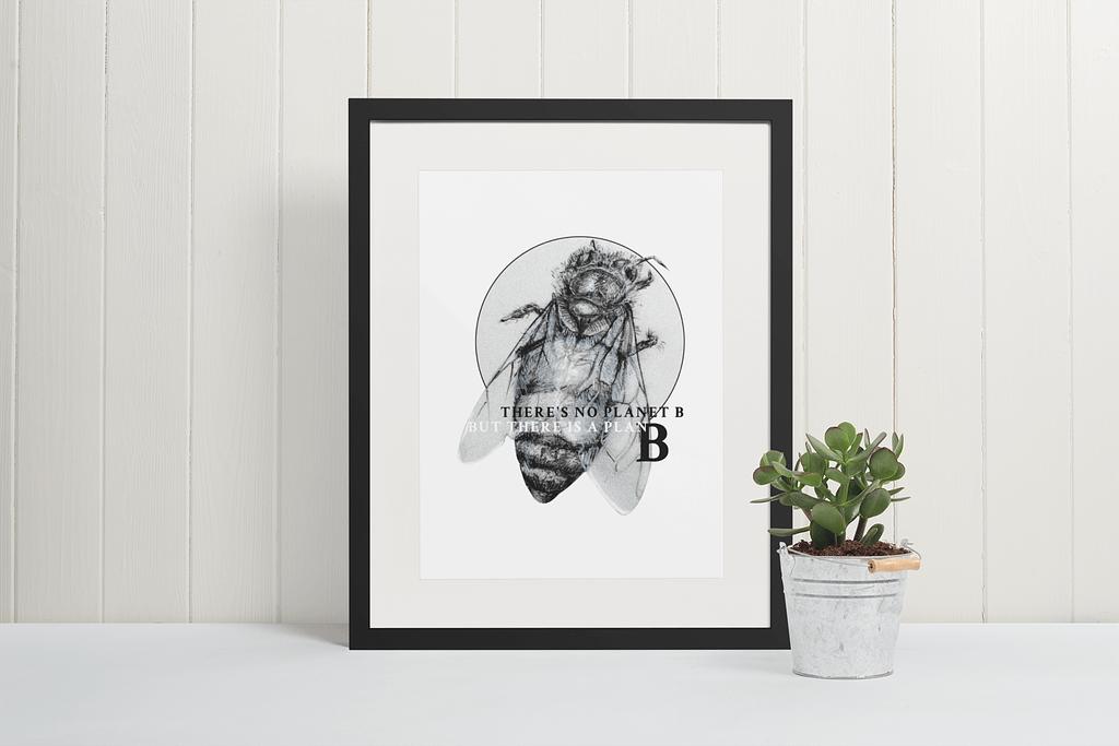 Honey Bee Art Print | Pigments by Liv