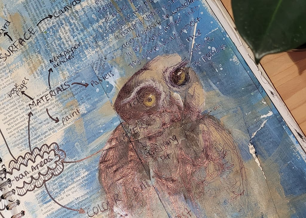 Janice van Dichele | How to paint owls | Pigments by Liv