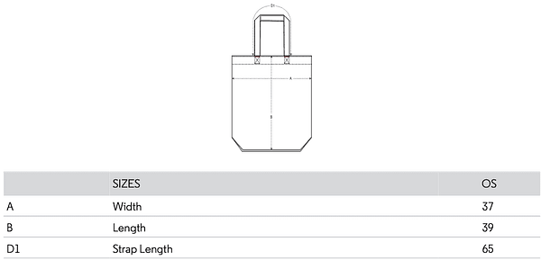 Tote bag size guide