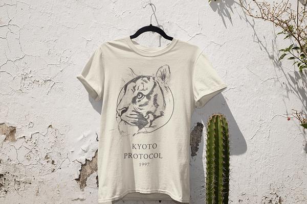Ecru Tiger T-Shirt | Pigments by Liv