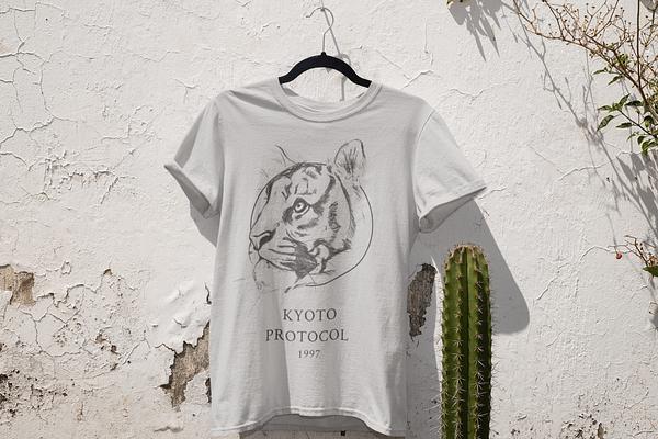 Light Grey Tiger T-Shirt | Pigments by Liv