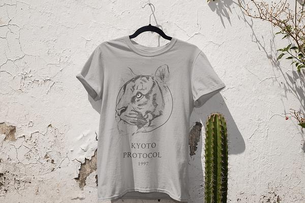 Melange Grey Tiger T-Shirt | Pigments by Liv