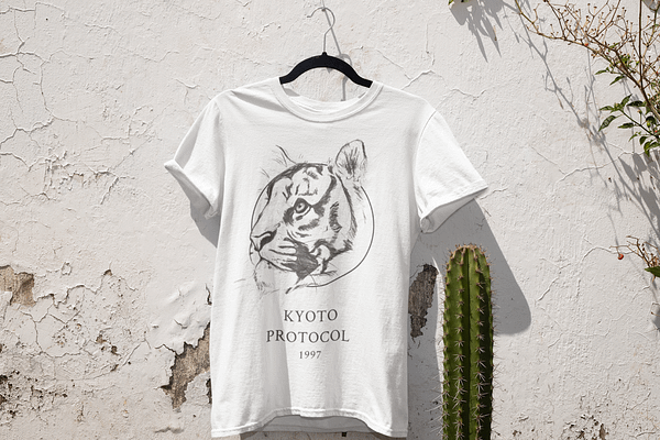 White Tiger T-Shirt | Pigments by Liv
