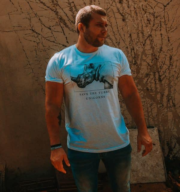 Save the Tubby Unicorns Rhino T-Shirt | Pigments by Liv