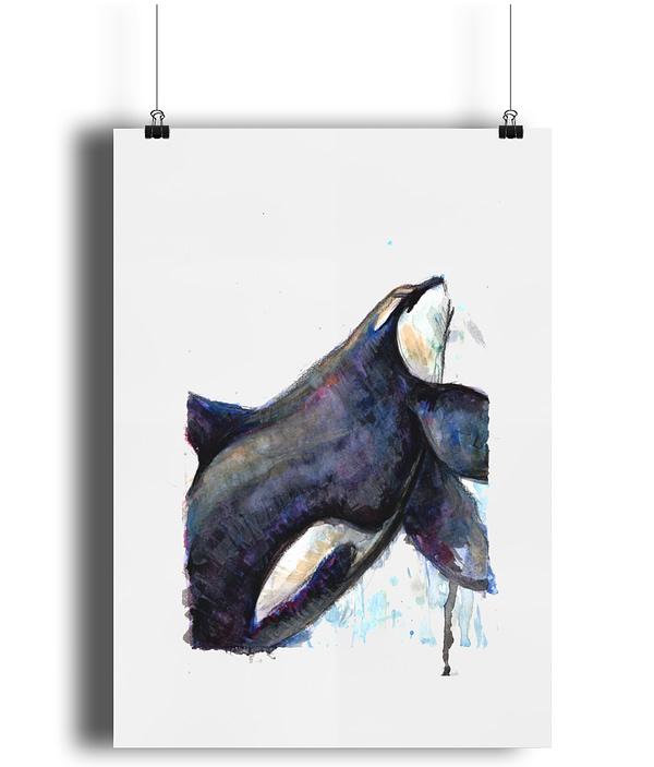 Orca Art Print | A4 Matte | Pigments by Liv