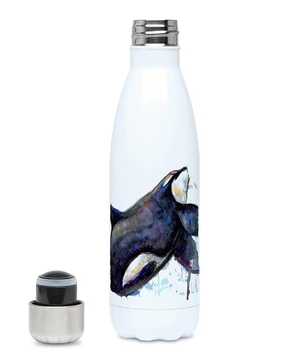 Reusable Orca water bottle front