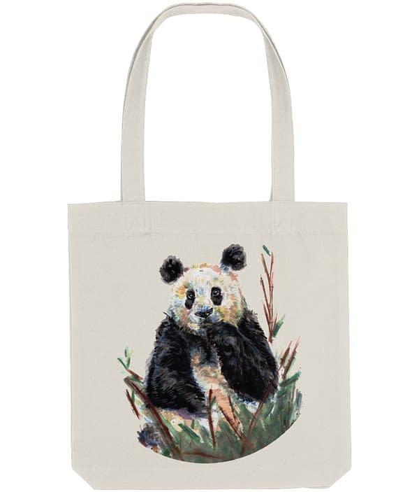 Giant Panda Tote Bag | Watercolour Art Print |Pigments by Liv