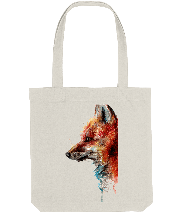 Natural Recycled Fox Tote Bag   Pigments by Liv