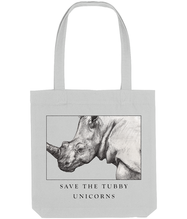 Grey Recycled Rhino Tote Bag   Pigments by Liv
