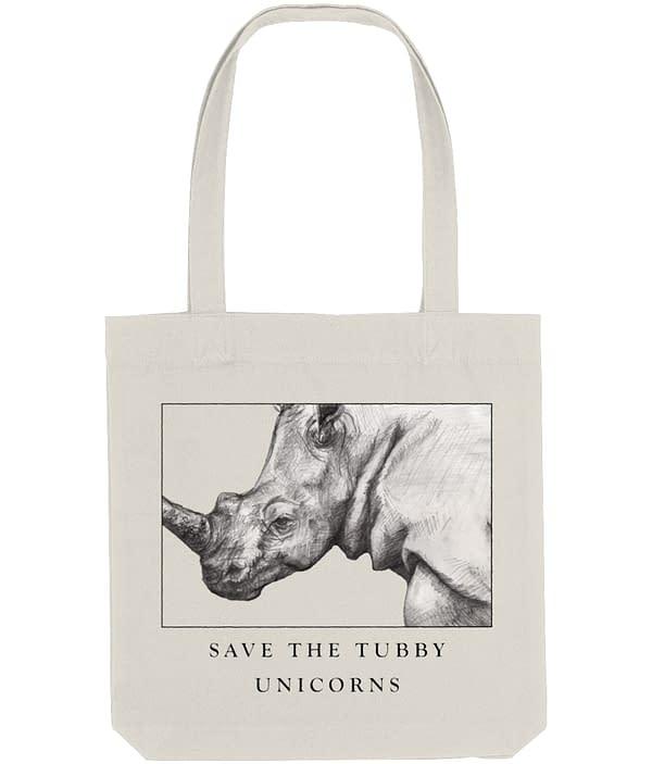 Natural Rhino Tote Bag   Pigments by Liv