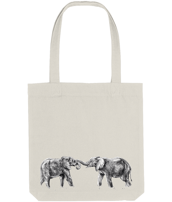 Natural Recycled Elephant Tote Bag | Pigments by Liv