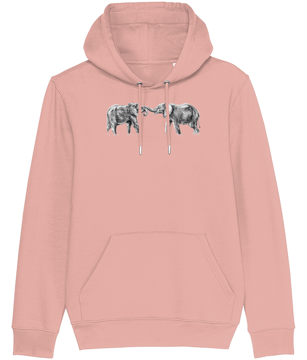 Canyon Pink Elephant Hoodie | Pigments by Liv