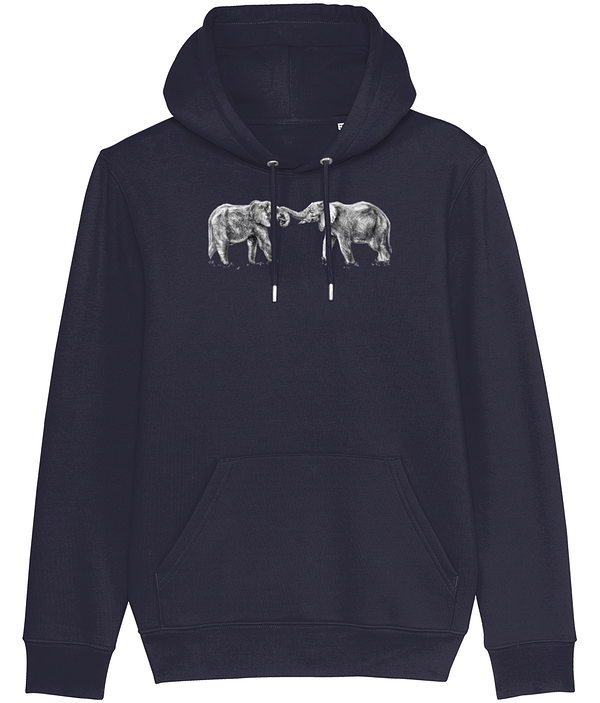 French Navy Elephant Hoodie | Pigments by Liv