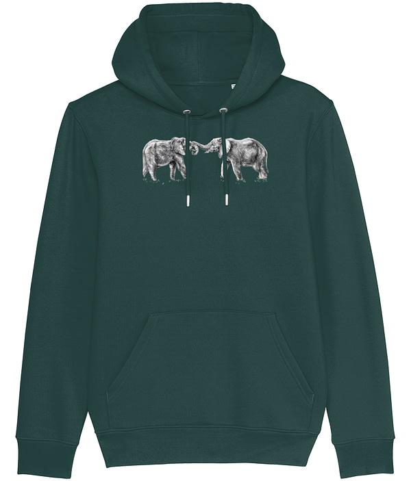 Glazed Green Elephant Hoodie | Pigments by Liv