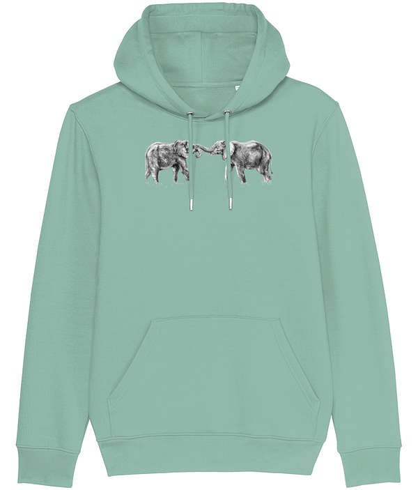 Heather Green Elephant Hoodie | Pigments by Liv