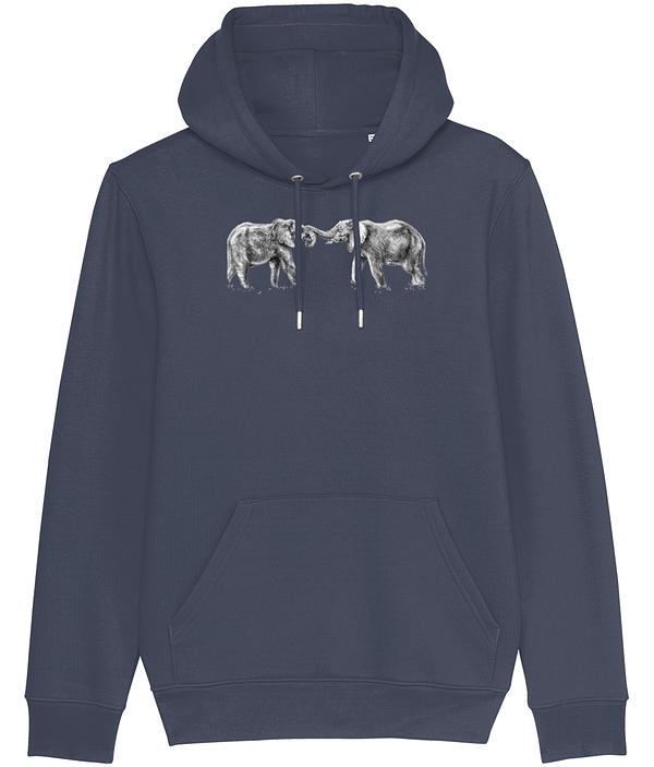 India Ink Elephant Hoodie | Pigments by Liv