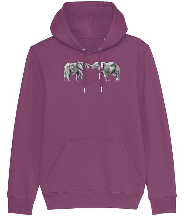 Mauve Elephant Hoodie | Pigments by Liv