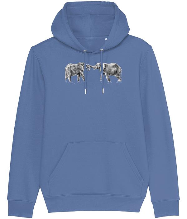 Basic Blue Elephant Hoodie | Pigments by Liv