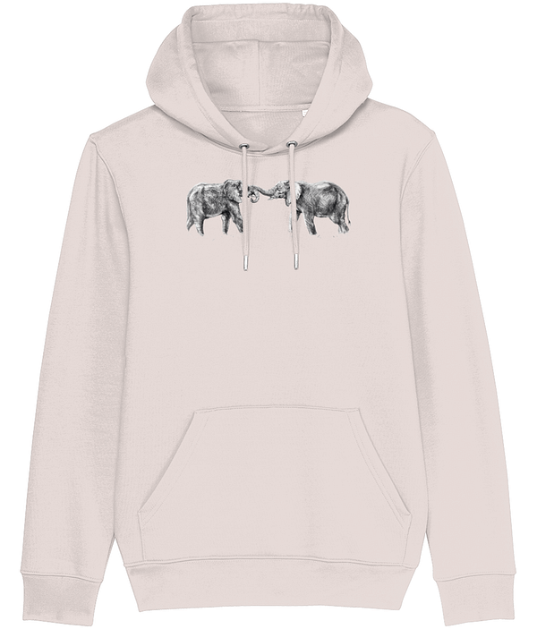 Candy Pink Elephant Hoodie | Pigments by Liv