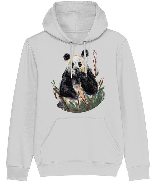 Heather Grey Panda Hoodie   Pigments by Liv