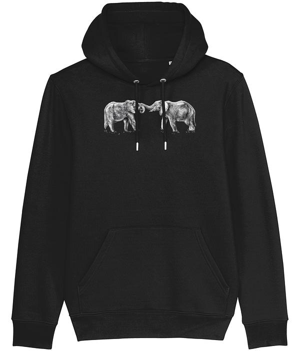 Black Elephant Hoodie | Pigments by Liv