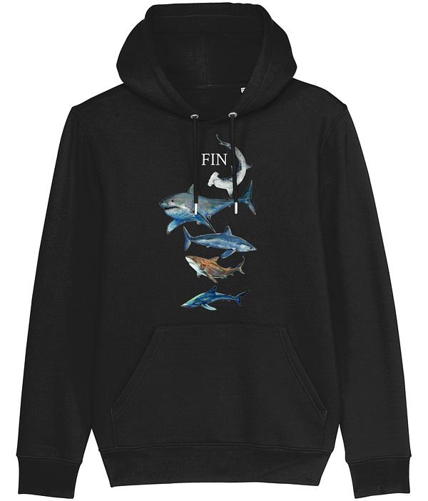Black Shark Hoodie | Pigments by Liv