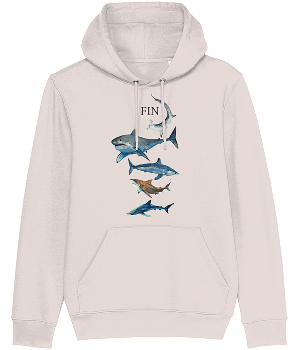 Candy Pink Shark Hoodie | Pigments by Liv