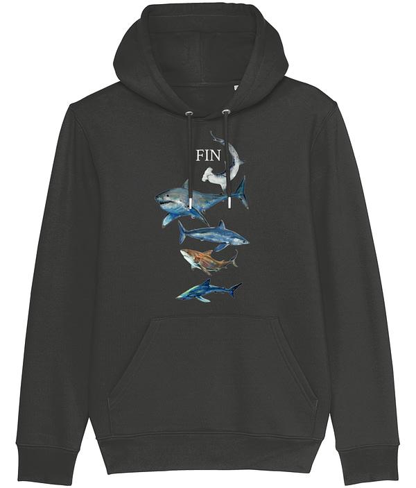Dark Heather Grey Shark Hoodie | Pigments by Liv