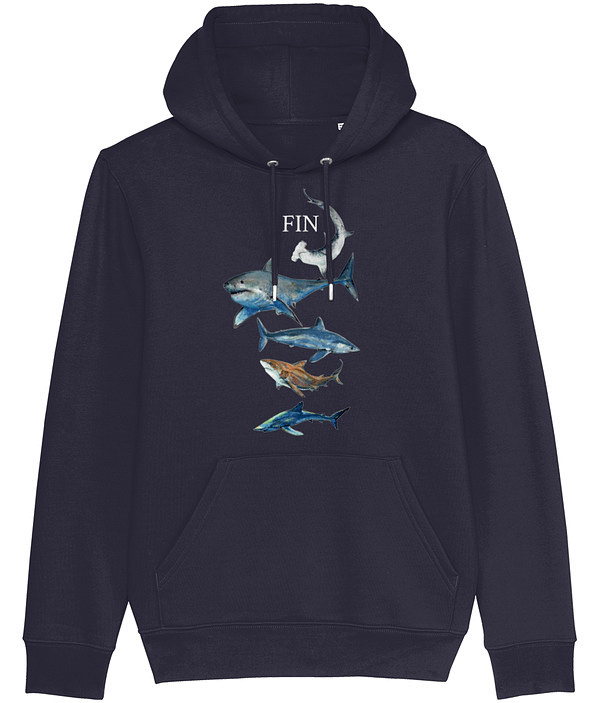 French Navy Shark Hoodie | Pigments by Liv