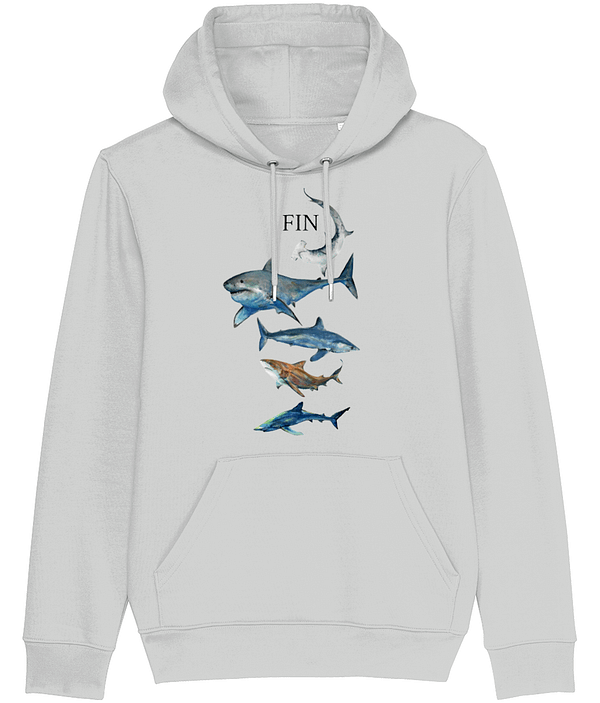 Heather Grey Shark Hoodie | Pigments by Liv