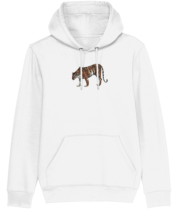 White Limited Edition Tiger Hoodie | Pigments by Liv