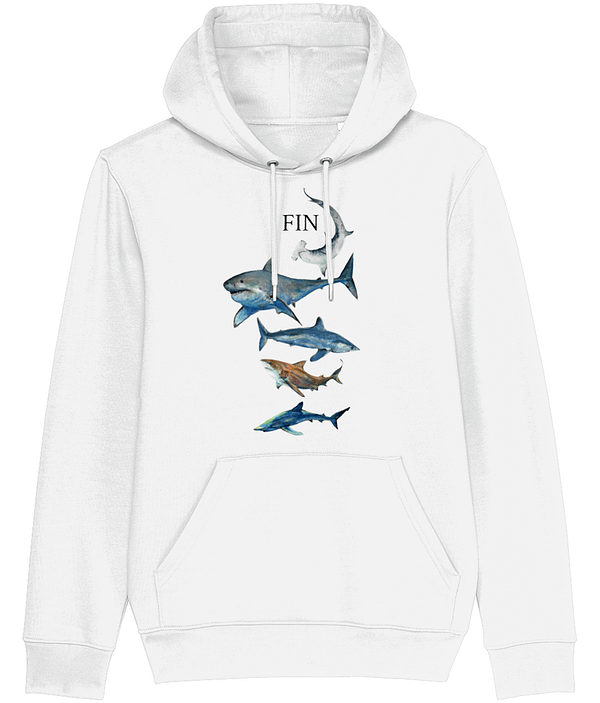 White Shark Hoodie | Pigments by Liv
