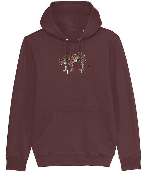Burgundy Limited Edition Tiger Hoodie | Pigments by Liv