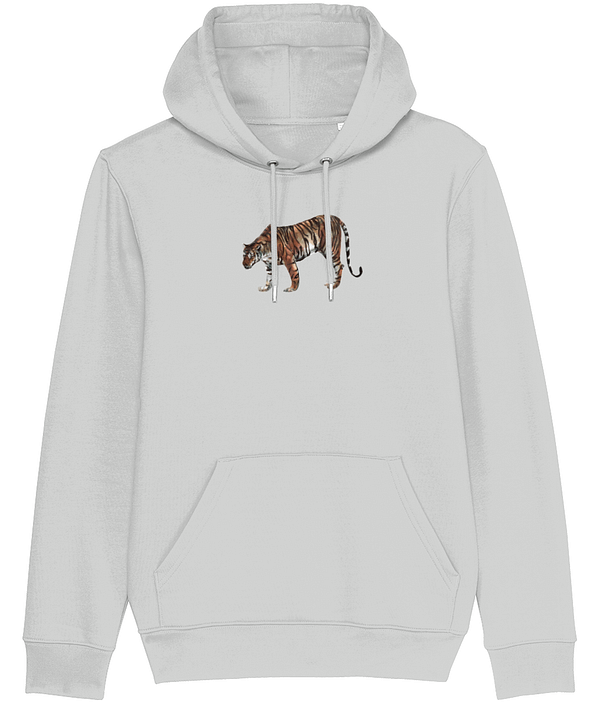 Heather Grey Limited Edition Tiger Hoodie | Pigments by Liv