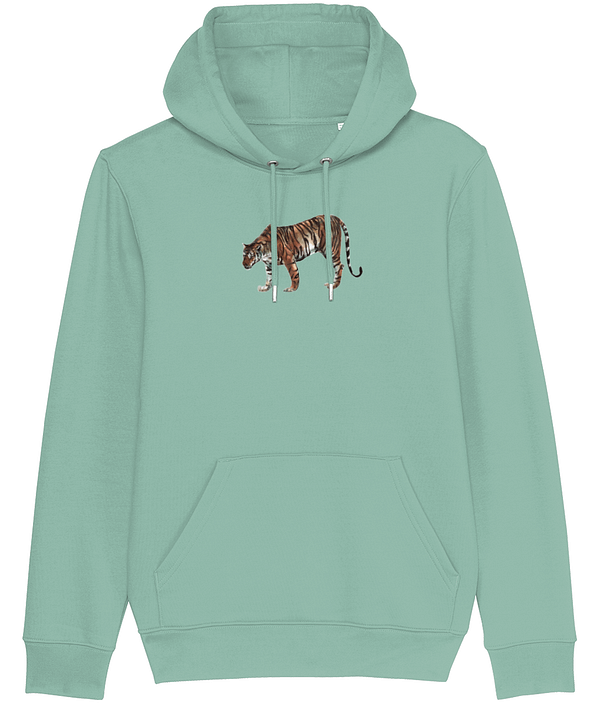Heather Green Limited Edition Tiger Hoodie | Pigments by Liv