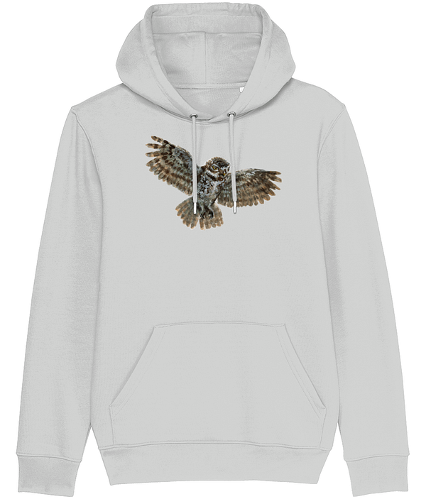 Heather Grey Owl Hoodie | Pigments by Liv
