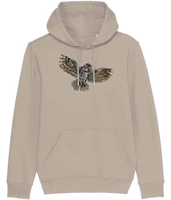 Desert Dust Owl Hoodie | Pigments by Liv