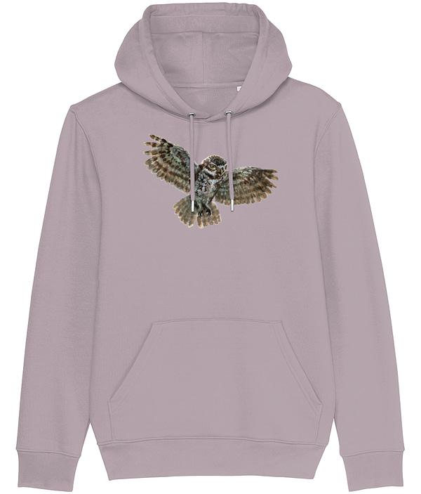Lilac Petal Owl Hoodie | Pigments by Liv