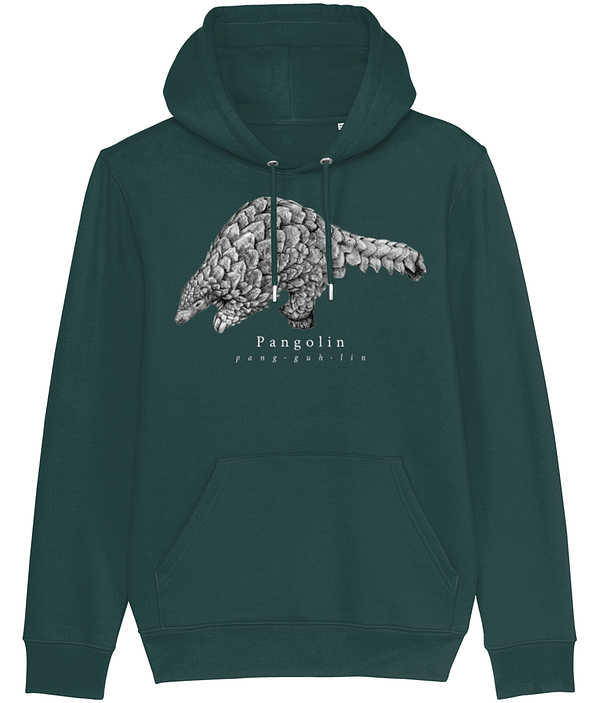 Glazed green pangolin hoodie | Pigments by Liv