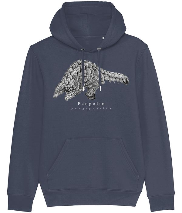 India ink grey pangolin hoodie | Pigments by Liv