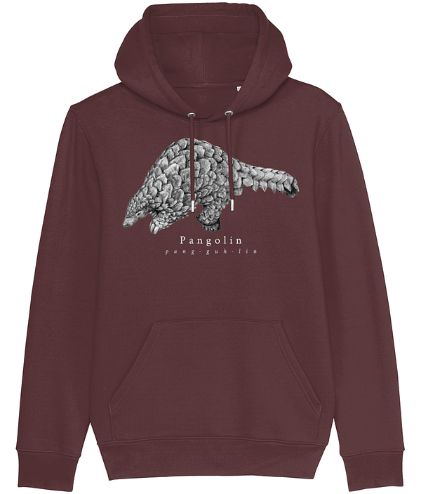 Pangolin hoodie burgundy | Pigments by Liv