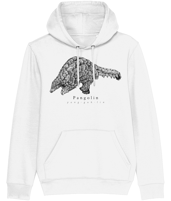 White Pangolin Hoodie | Pigments by Liv