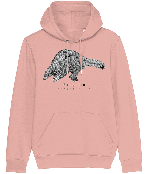 Canyon Pink Pangolin Hoodie | Pigments by Liv