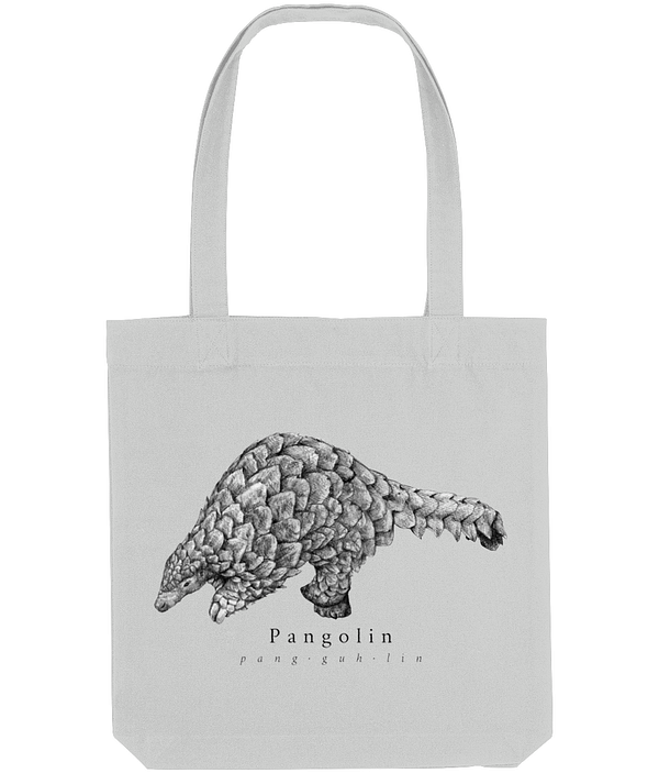 Heather Grey Pangolin Tote Bag | Pigments by Liv