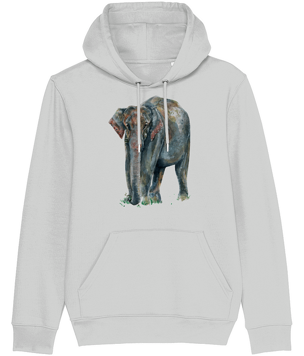 Heather Grey Asian Elephant Hoodie | Pigments by Liv