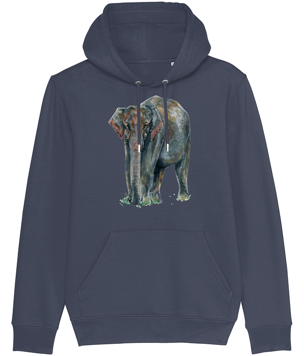 Asian Elephant Hoodie | Pigments by Liv