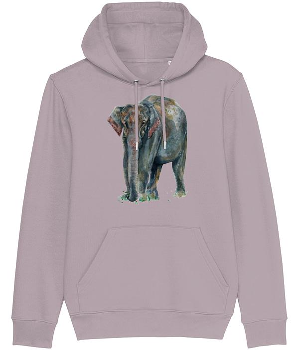 Lilac Petal Asian Elephant Hoodie | Pigments by Liv