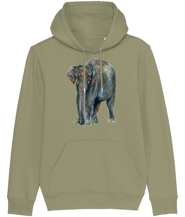 Sage Asian Elephant Hoodie | Pigments by Liv